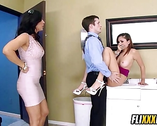 Hot office sex with arianna marie