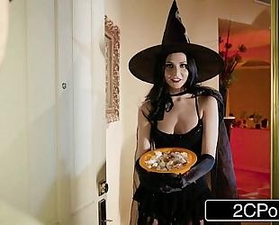 Unfaithful BBC slut ariana marie copulates behind husband's back on halloween