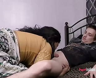 Indian playgirl lily with her spouse engulfing him off