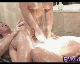 Sexy madison ivy soapy massage