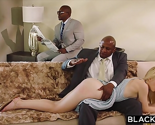 Blacked tractable girlfriend punished by 2 dark males