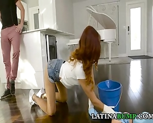 Latina pickupsex with jade jantzen - in nature's garb cleaning