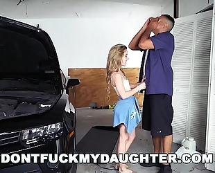 18yo legal age teenager lilly ford copulates daddy's mechanic ally (dfmd15754)