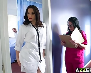 Hot doctor chanel trio fuck at the hospital