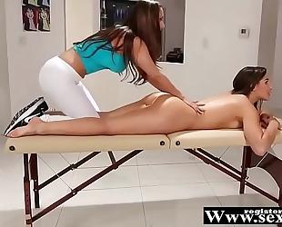 R33n@ sky, ab3ll@ dang3r and chan3l pr3ston in messy massage