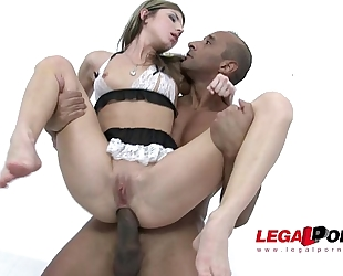 Petite nympho gina gerson acquires interracial bbc double penetration