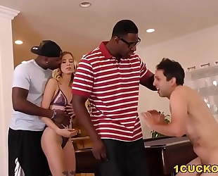 Haley reed interracial 3some - cuckold sessions