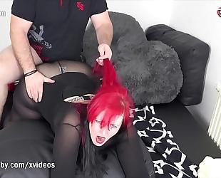 My ribald hobby - redhead bbw takes a large wang