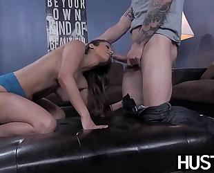 Busty reena sky earns facial after godly fucking performance
