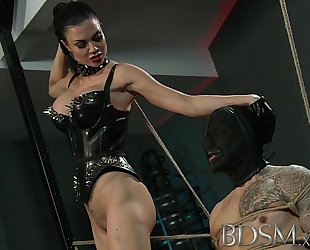 Bdsm xxx serf lad receives bound up and acquires greater amount than this chab bargained