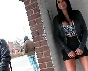 Jasmine jae pissing in public