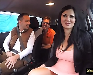Driving instructress jasmine jae three-some