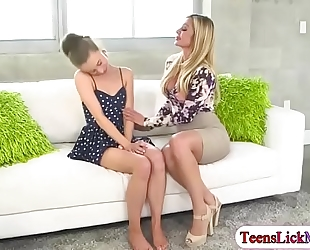 Anya olsen drilled by lesbo milf nina