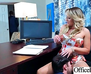 Sex scene in office with floozy sexy breasty white wife (cali carter) video-26