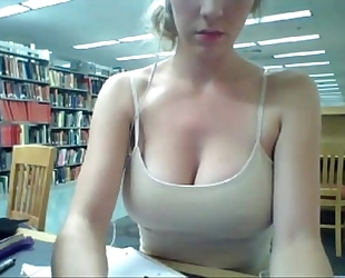 Horny BBC slut gives a web show, in the university library - orgythreesome.blogspot.