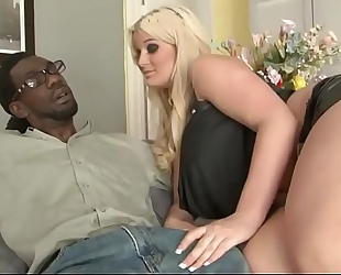 Chubby blond stepdaughter bonding with bbc