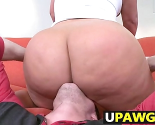 Julie specie giant booty takes a beating