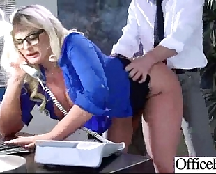 Gorgeous Married slut (julie cash) with large tits like sex in office clip-25