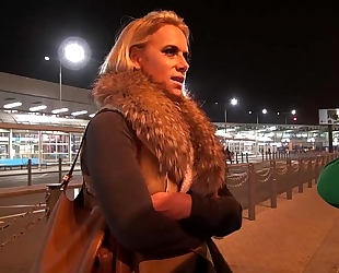 Big titty milf airport pick up and fuck hard in mea melone van