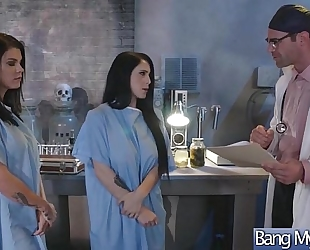 Gorgeous bitch patient (noelle easton & peta jensen) tempt and group-sex with doctor mov-24
