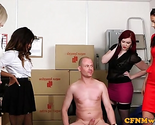 Mean femdom group enjoyment with kiki minaj