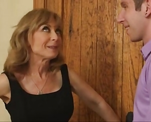 Nina hartley on a date with youthful guy