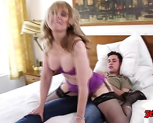 Nina hartley likes to have joy with younger fellows