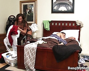 Young dude goes balls unfathomable in his own stepmom!