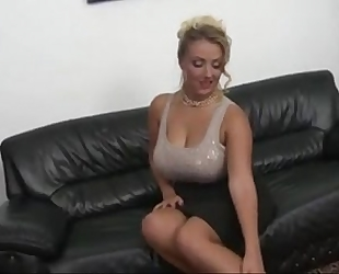 Czech milf with large naturals mounds copulates