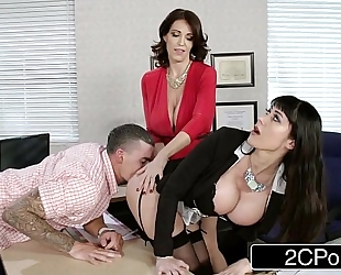 Fantasy teacher vs stepmom threesome for a fortunate dude - charlee pursue, eva karrera