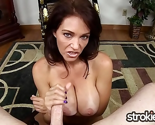 Big tit milf charlee pursue cummy tugjob