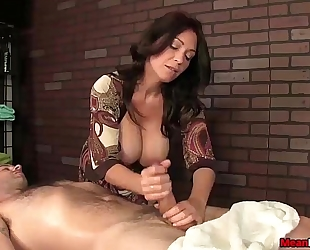 Sexy big-titted slutty wife shlong treatment