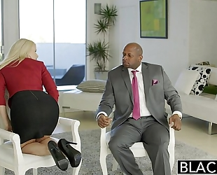 Blacked business golden-haired anikka albrite wazoo screwed by a bbc