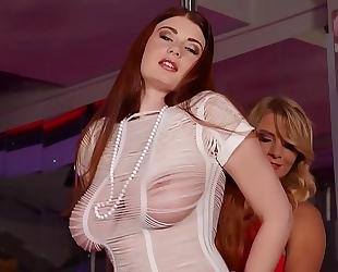 Busty stripper katerina hartlova & lucy li fuck at the stripclub