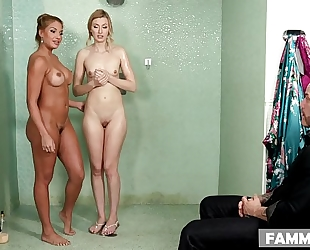 Stepdaughter on her 1st massage appointment - mercedes carrera, alexa grace and derrick pierce