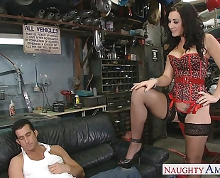 Busty brunette hair jayden jaymes engulf a biggest knob