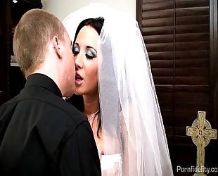 Sexy bride jayden james bonks her priest