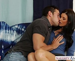 Hot mamma india summer acquires fur pie drilled and nailed
