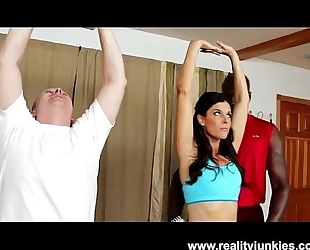 Slut white bitch india summer in interracial cuckold