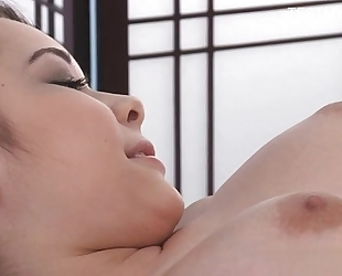 Young non-professional cum on bawdy cleft