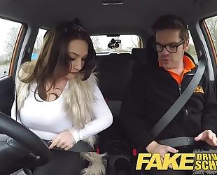 Fake driving school breasty jailbird goes on a wild ride!