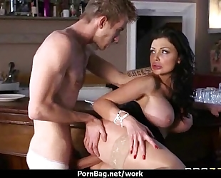 Big titted chick receives drilled hard in the office twenty one