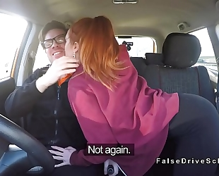 Pale driving student bangs large 10-Pounder