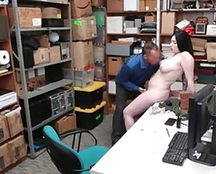 Tattooed shoplifter forced to have sex with cocky LP officer