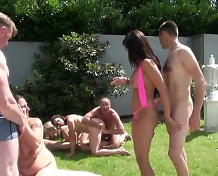 Chessie Kay and her horny friends having fun outdoors