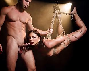 Mind-blowing BDSM XXX scene with gorgeous porn babe