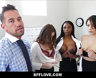 Rad dad bonks all three of his son's future female assistants sarah banks, sami parker and danni rivers pov