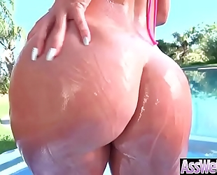 (kelsi monroe) oiled up large wazoo white women have a fun unfathomable anal hardcore sex clip-15