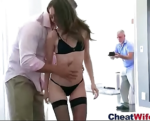 (riley reid) hot white wife in cheating hard style act team fuck movie-23