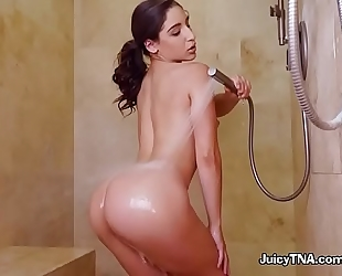 Bootylicious playgirl abella danger takes a shower